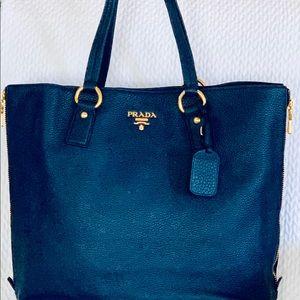 PRADA Large Blue Tote Bag